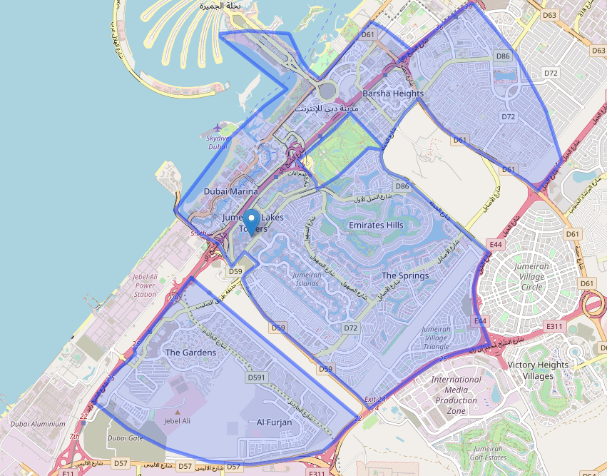 Pitfire Delivery areas